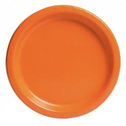 16 piatti in carta - arancio