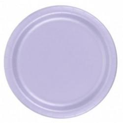 16 piatti in carta - lilla