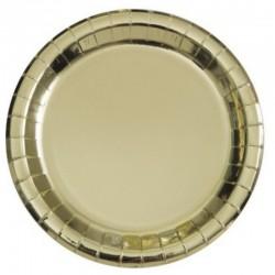 8 piatti in carta - oro metallizzato