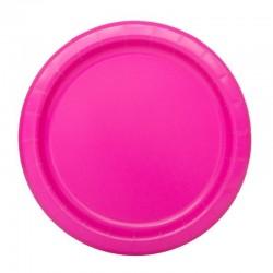 16 piatti in carta - neon pink