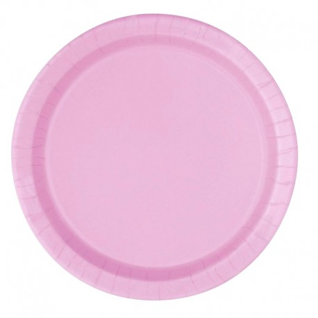 20 piattini in carta - rosa