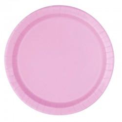 16 piatti in carta - rosa