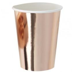 8 bicchieri ROSEGOLD METALLIZZATO