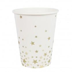8 bicchieri stelle oro