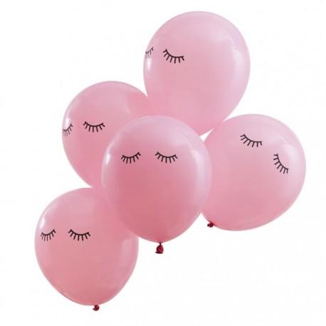 set 5 palloncini ciglia
