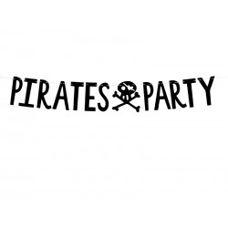 "BANNER ""PIRATE PARTY"""
