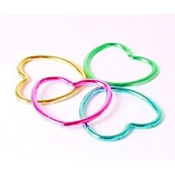 12 braccialetti cuore - 4 colori