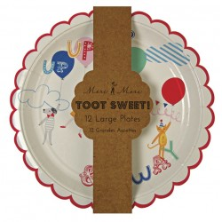 piatti di carta 'children' toot sweet