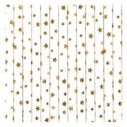 25 cannucce di carta a stelle oro metal