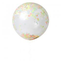 kit 3 palloni giganti con coriandoli fluo