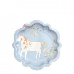 8 Piatti piccoli ''Meri Meri''con unicorno