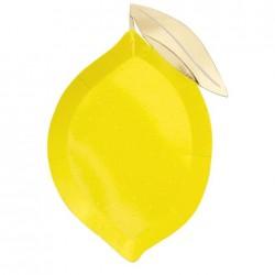 8 Piatti forma Limone