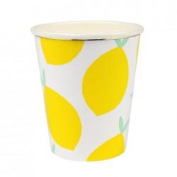 8 Bicchieri con Limoni