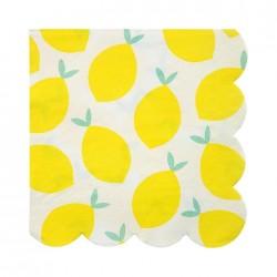 20 Tovaglioli con Limoni