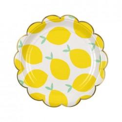 8 Piattini con Limoni