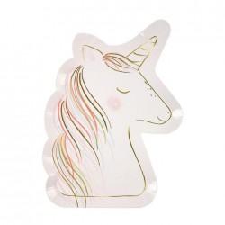 8 Piattini Unicorno