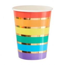 8 Bicchieri Rainbow
