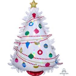 Palloncino Albero di Natale irridescente 66cm x 91cm