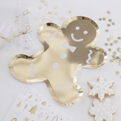 8 Piatti Gingerbread Shaped